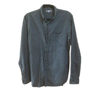 UNIQLO Houndstooth Button Down Long Sleeve Shirt M